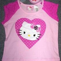 Hello Kitty Pretty Pink Little Girl's Top Size Xs (4/5)-New-Nr-Bin Photo