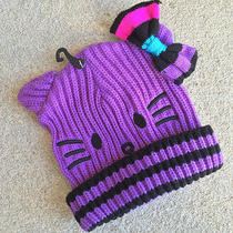 Hello Kitty Purple Cable Knit Beanie Girls Sanrio Claire's Photo
