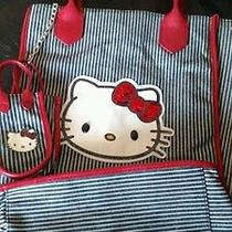 Hello Kitty Purse and Cell Phone Holder. Girls/womens. Red/blue/gray. New Photo