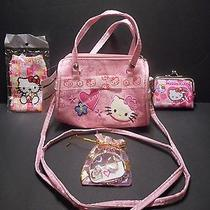 Hello Kitty Purse Bracelet Earrings Necklace Camera Case Pink  Photo