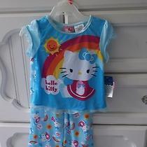 Hello Kitty Rainbow Pj's Sz 2t Brand New W/ Tags Free Shipping Photo
