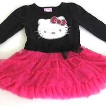 Hello Kitty Red/black Tutu Long Sleeve Dress Size 12m Photo
