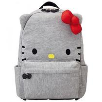 Hello Kitty Rucksack Backpack Daypack Bag Face Ribbon Sanrio From Japan B3067 Photo