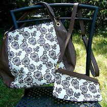 Hello Kitty Sanrio 2way Tote Bag Shoulder Bag Hobo Bag With Pouch - Brown Photo