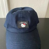 Hello Kitty Sanrio Adult Navy Baseball Cap Rubber Patch W/adjustable Back Strap Photo