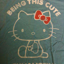 Hello Kitty Sanrio Aqua Blue Cute T Shirt   Photo