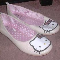 Hello Kitty Sanrio Girls Glitter Slip-on Mary Janes Ballet Flats Size 1.5 Photo