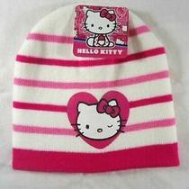 Hello Kitty Sanrio Pink and White Skull Hat Girls Photo