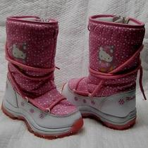 Hello Kitty Sanrio Winter Boots Child  Girl Us Size 11 Photo