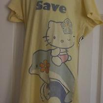 Hello Kitty Save Our Oceans T Shirt Earth Day Junior Small Dolphins Yellow Tunic Photo
