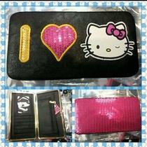 Hello Kitty Sequins Pink Hinge Wallet Photo