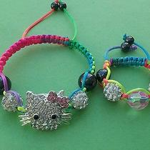 Hello Kitty Shamballa Bracelet With 18