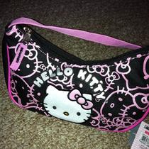 Hello Kitty Small Hobo Bag Black and Pink New With Tags Photo