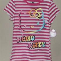 Hello Kitty Striped T-Shirt --  Size 14/16 -- Photo