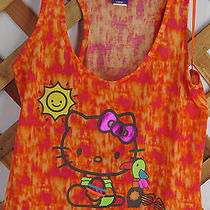 Hello Kitty Tank Top Junior Size M Orange Nwt (2389) Photo