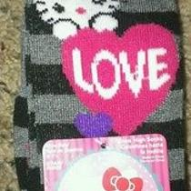 Hello Kitty Toddler Knee Socks 2 Pair Nwt Fits Shoe Size 4-7.5 Photo