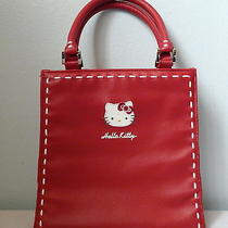 Hello Kitty Tote Bag 2005 Sanrio Red With White Stitching Photo