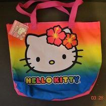 Hello Kitty Tote Beach Bag Hawaiian Bright Colors - Nwt Photo