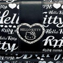 Hello Kitty Wallet Money Bag Coin Card Case Purse Heart Sanrio From Japan B3223 Photo