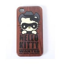 Hello Kitty Wanted Cowboy Bandit Plastic Iphone 4 Cover Case Photo