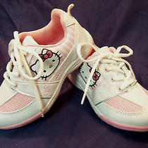 Hello Kitty White & Pink Tennis Shoes Girl's Size 13  New Nwob Photo
