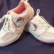 Hello Kitty White & Pink Tennis Shoes Girl's Size 3  New Nwob Photo