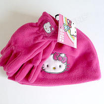 Hello Kitty Winter Set Fleece Hat & Gloves Pink Toddler Osfm Nwt Sanrio Photo