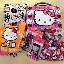 Hello Kitty Women's Bathroom Bag Pj's Iphone Case Lotion Gift Set Size Large Photo