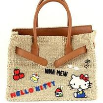 Hello Kitty X Nina Mew Basket Tote Bag Handbag Purse Sanrio From Japan P/o T3314 Photo