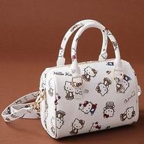 Hello Kitty X Nina Mew Cowhide Leather Boston Bag Handbag Purse From Japan T2135 Photo