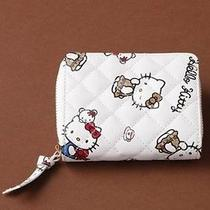 Hello Kitty X Nina Mew Cowhide Wallet Money Bag Coin Card Case Purse Japan T2134 Photo