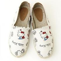 Hello Kitty X Nina Mew Espadrille Shoes Sandals White Sanrio From Japan T3313 Photo