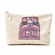 Hello Kitty X Ouiayano Ruban Cosmetic Pouch Bag Purse Sleep Sanrio Japan T3318 Photo