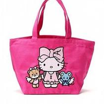 Hello Kitty X Ouiayano Ruban Tote Bag Handbag Purse Sleep Sanrio Japan T3317 Photo