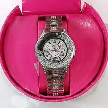 Hello Kitty Y Sanrio New Silver Pink Metal Chain Emellished Analog Watch 52- 1 Photo