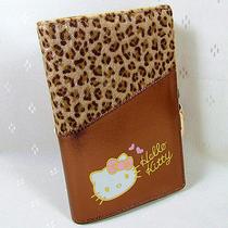 Hellokitty Hasp Pendant  Leopard Wallet Purse 2015  New Cute Pu Middle Size Photo