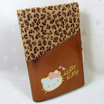 Hellokitty Hasp Pendant  Leopard Wallet Purse 2015  New Cute Pu Middle Size Photo