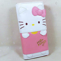 Hellokitty  Hasp  Wallet  Purse 2015 New Cute Pu Bow Pink  Long Size Photo