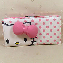 Hellokitty Hasp  Wallet Purse 2015  New Cute Pu Bow Pink  Long Size Photo