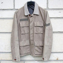 Helmut Lang 1996 Vintage Painted Military Jacket  Photo
