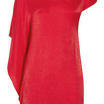 Helmut Lang Assymetric Jersey Red Dress S Photo