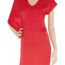 Helmut Lang Assymetric Jersey Red Dress S Photo