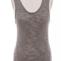 Helmut Lang Gray Perforated Silk Sweater Tank Top Sz P Photo