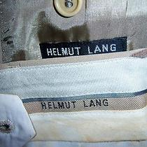 Helmut Lang Incredible Vintage Tan Smooth Cashmere Pant Suit Stunning 42 Perfect Photo