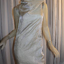 Helmut Lang Rare Unique Sample Dress Gold Cocktail S Small Oversized Collar Photo