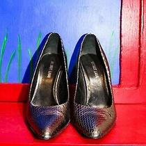 Helmut Lang Silver Metallic Heels 39.5 It Shoes Pumps Scale Snake Embossed Italy Photo
