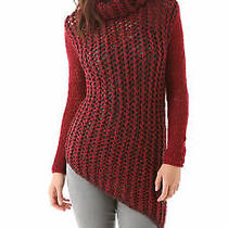 Helmut Lang Tattered Tape Bordeaux Asymmetrical Hem Sweater Size P 0 2 495 Photo