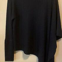 Helmut Lang Womens Black Alpaca Poncho Asymmetrical Sweater Medium Fits Large Photo