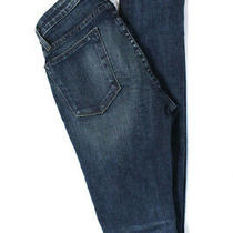 Helmut Lang Womens Zipper Fly Dark Wash Skinny Jeans Blue Cotton Size 26 Photo