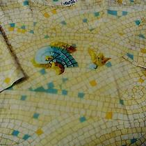 Hermes 100% Cotton Xl Geometric Dolphin Tee Shirt Photo